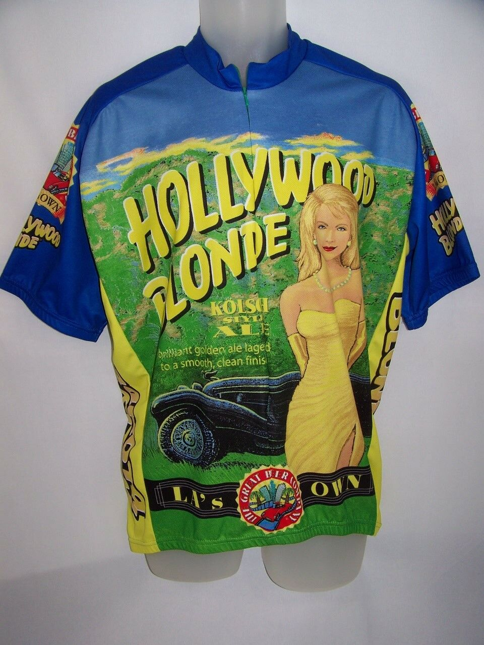 Hollywood Blonde Ale Cycling  Jersey Polyester Shirt Beer World Jerseys Mens XXL  is discounted