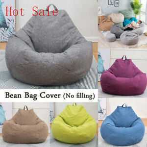 Wondrous Sofa Cover Cotton Linen Bean Bag Chairs Without Filler Creativecarmelina Interior Chair Design Creativecarmelinacom