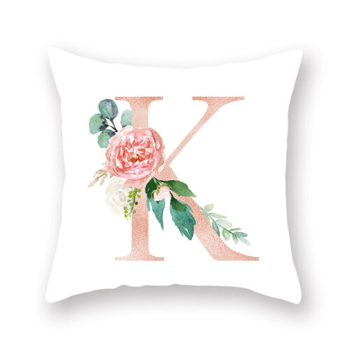 Carta de cubierta Cojín Rosa Impreso Funda De Almohada Tirar Funda de almohada Coche Hogar Decorativo