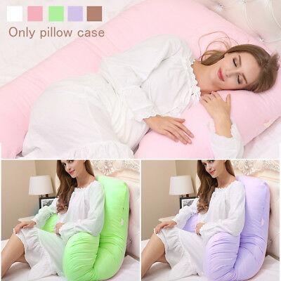 U Shaped Pillow Cover Pregnancy Support Maternity Nursing