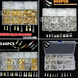 540-900X-Crimp-Terminales-Spade-Conectores-Cable-Macho-Hembra-Aislado-2-8-4-8-6-3