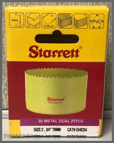 "2-3//4/"" Starrett DH0234 Dual Pitch Professional Hole Saw 70 mm"