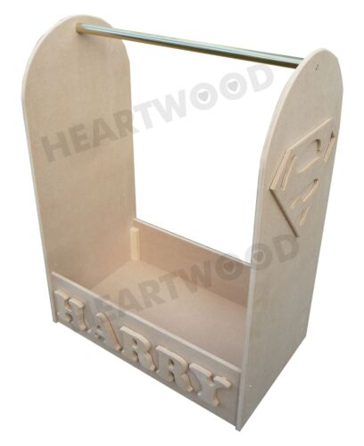 Dressing up stand 1000mm high //Hanging rail//Superman//Super-hero//6 free letters