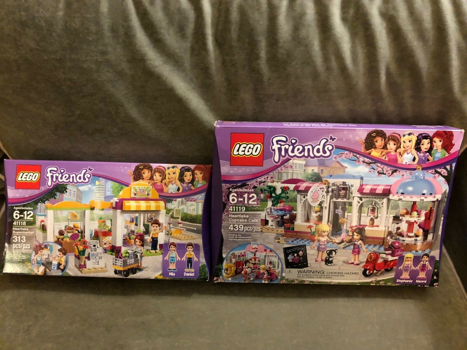 Lego Friends Heartlake 41118 Supermarket, 41119 Cupcake Cafe - NISB - RetiROT
