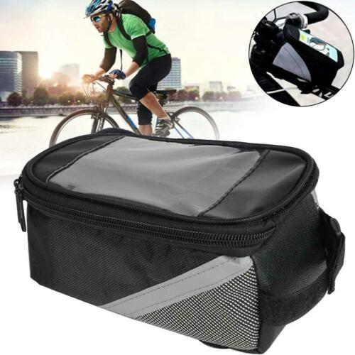 Cycling Bike Front Bag Waterproof Bicycle Phone Holder Frame Tube  X1E3