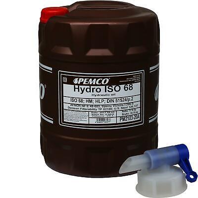 20 Litri Originale Pemco Olio Idraulico Iso 68 Hydro Hlp 68 Oil Incl. Rubinetto Rubinetto-mostra Il Titolo Originale