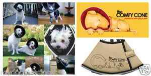 Comfy-Cone-Dog-or-Cat-E-Collar-Soft-amp-Flexible-Surgery-Recovery-Tan-Four-Paws