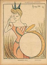 de cappiello : marguerite deval colour print  from  le rire dated 1900