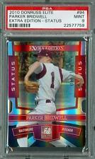 2010 Donruss Elite Extra Edition Status /100 Parker Bridwell #94 PSA 9 Orioles