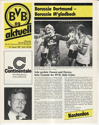BL 87//88 Borussia Dortmund Borussia Mönchengladbach