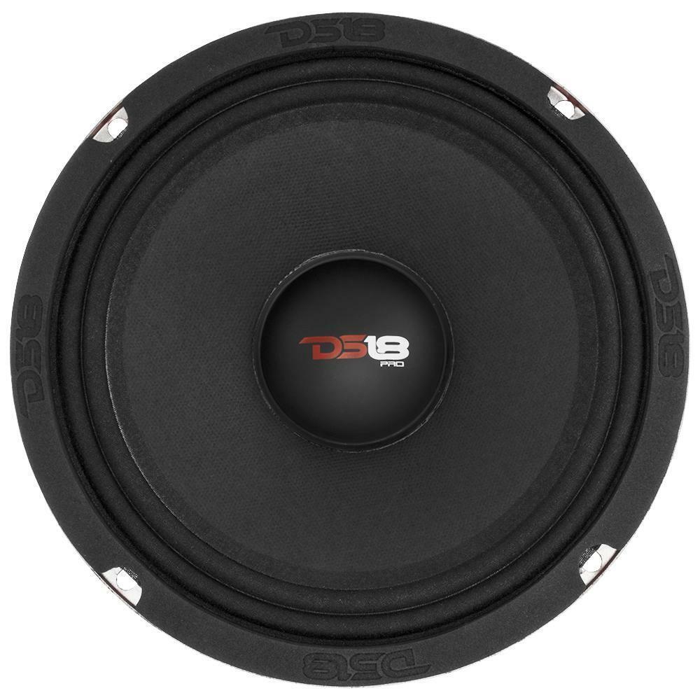 "8/"" Midrange Sealed Back Speaker 1100W 8 ohm Car Audio Mid 1 Pair DS18 PRO-X8MSE"