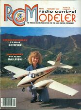 1989 RC Modeler Magazine: Gordon Whitehead 1/8 Spitfire/John Hunter Sailfish