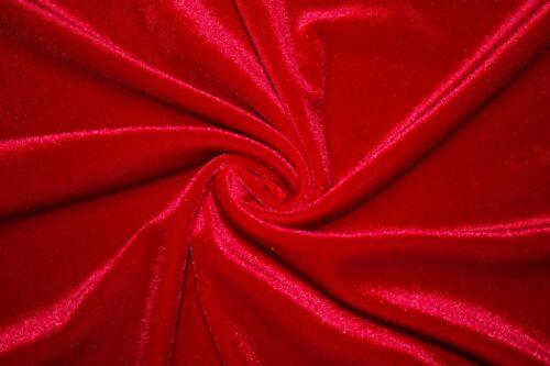 "Lycra Stretch Velvet 90/% Polyester 10/% Spandex Fabric 55/""-56/"" Wide BTY"