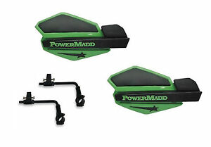 Powermadd Sentinel Handguards Guards Tri Mount Green Black Utility ATV Can Am