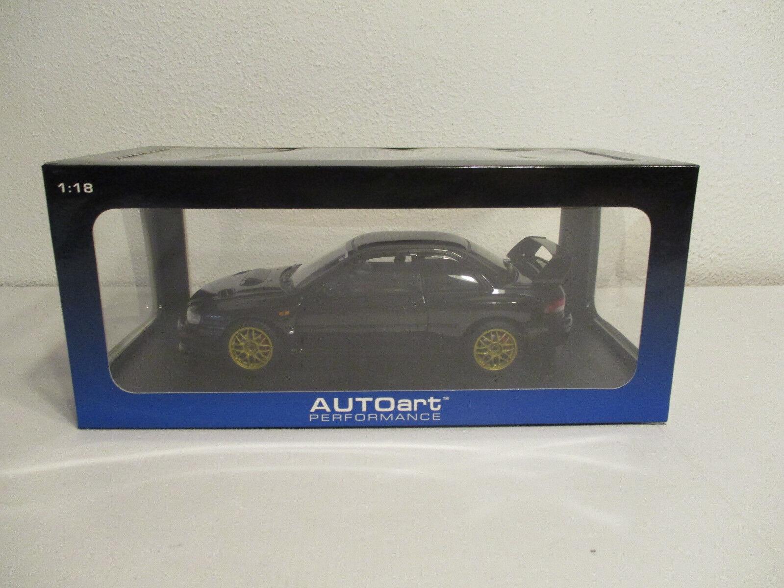 (Modelage) 1 18 Autoart Subaru impreza 22b sti Nouveau neuf dans sa boîte