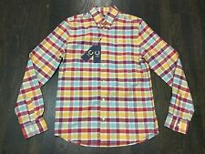 NWT $175 Fred Perry Wreath Collection Brushed Cotton Shirt Plaid Madras 36 Small