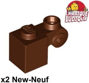 Lego 2x brick brick modified 1x1 stud 4 side brown//brown 4733 new répugnant