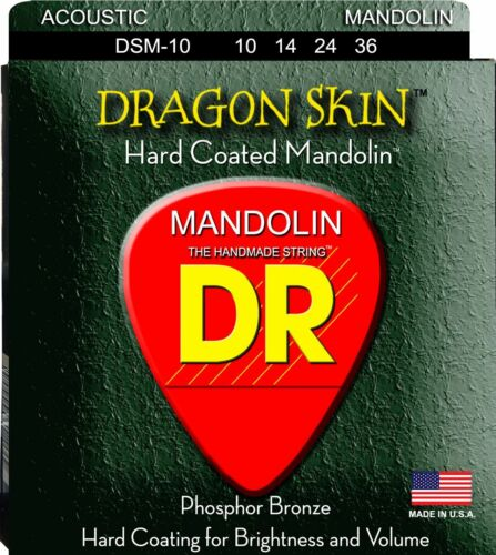 DR DSM-10 Dragon Skin Mandolin Strings gauges 10-36