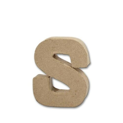 S mit 10 cm Höhe Deko Basteln Pappmache 2 cm Stärke Buchstabe Papier-Mâché