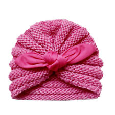 a62342ecfea8 Warm Baby Girls Ear Pattern Hat Cap Winter Soft Woolen Knitted Pink ...