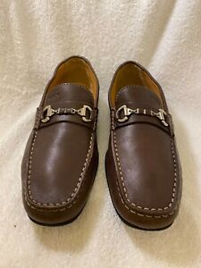 Fraude no usado equilibrio  GEOX Respira Men's Brown Leather Horse Bit Loafers Size Euro 44 US 11 7154H  | eBay