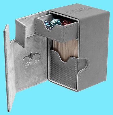 ULTIMATE GUARD FLIP n TRAY PINK 100 XENOSKIN DECK CASE Card Box MTG CCG Game