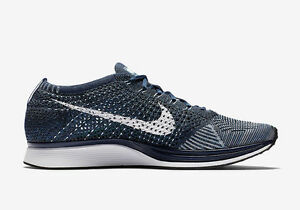 save off d1b02 3f94d Image is loading Nike-Flyknit-Racer-Blue-Tint-White-Bluecap-862713-