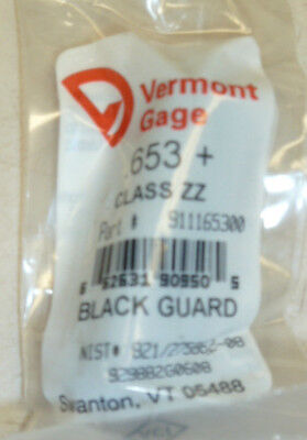 "CLASS: ZZ NEW BLACK GUARD GAGE PIN #911161500 VERMONT GAGE .615/"" +"