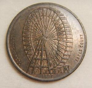 Great Britain 1897 Bronze Ferris Wheel Medal 32mm - About Uncirculated