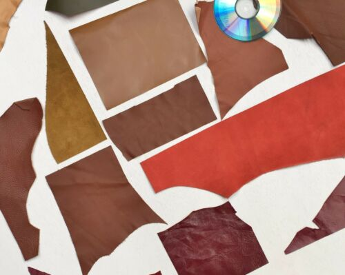 ASSORTED LEATHER OFF CUTS 600 GRAMS 1-1.6 mm  MIXED COLOURS