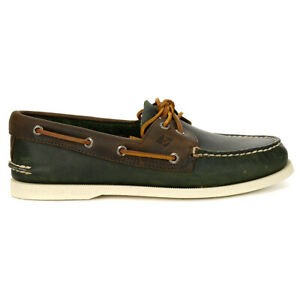 Sperry-Top-Sider-Men-039-s-Authentic-Original-Boat-Shoe-Olive-Riverboat-STS21716-NEW