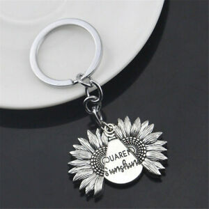 Sunflower-Keychain-Your-Are-My-Sunshine-Lettering-Keyring-Couple-Key-Chain-Gift