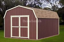 12 x 20 Feet Barn Storage Shed Plans, Buy It Now Get It Fast!