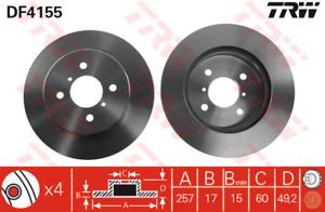 2 Stück Bremsscheibe TRW DF4155