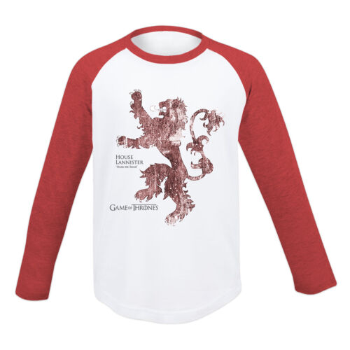 KIDS Game Of Thrones House Lannister Crest Long Sleeved T Shirt Dire Wolf Stark