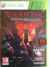 RESIDENT EVIL OPERATION RACCOON CITY EDIZIONE ITALIANA Xbox 360 NUOVO  SIGILLATO