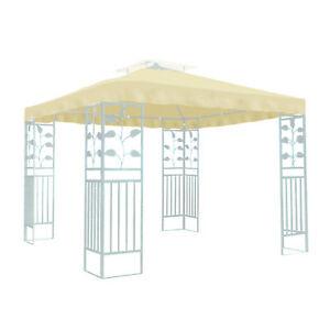 gro e abdeckung dach pavillondach beige 300x300 cm f r. Black Bedroom Furniture Sets. Home Design Ideas
