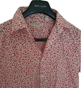 Mens-RARE-chic-LONDON-by-BURBERRY-short-sleeve-shirt-size-medium-RRP-325