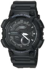Casio Men's 'classic' Quartz Stainless Steel and Resin Casual Watch Color Black