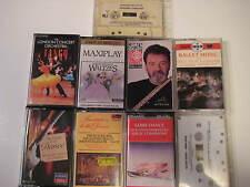 Lot of 9 DANCE Cassettes Ballroom Ballet Oriental Waltz Aerobic Tango Cassettes