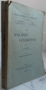 1906 Enfermedades Veneriennes por F. Balzer De Baillière E Hijos París IN 8 Be