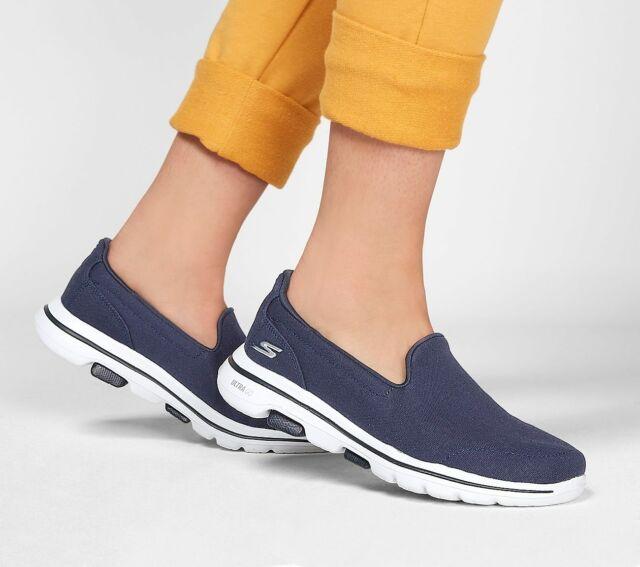 Ladies SKECHERS Go Walk Navy Slip on