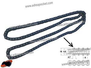 Chaine-Large-9mm-T8F-58-Liens-Noire-Pocket-Bike-Pocket-Cross