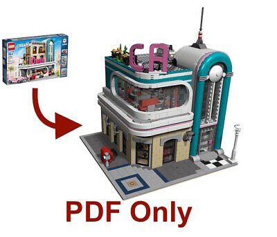 Lego Custom Modular Instructions-Only Downtown Diner Chicago 10260
