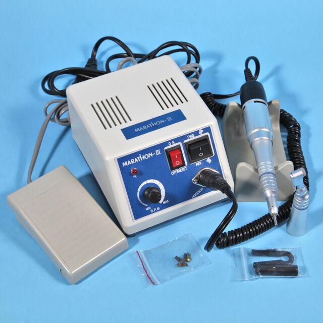 Marathon Dental Lab Micromotor Micromotore N3 w/ Contra Angle Handpiece Motor 4H