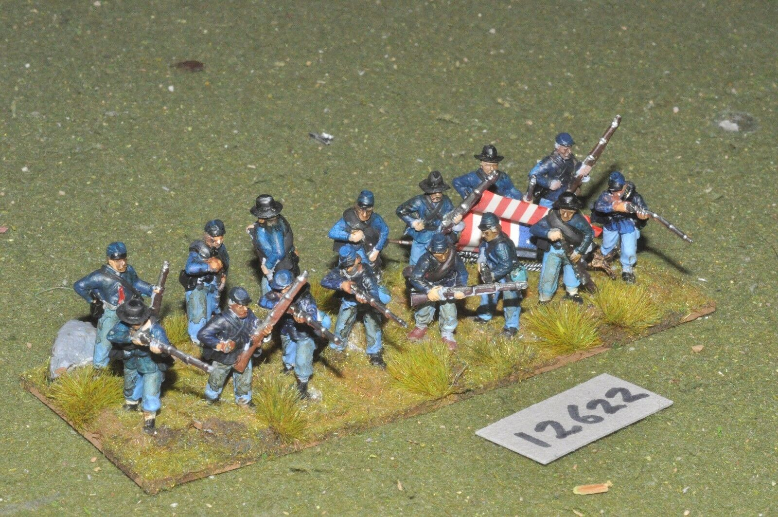 25mm ACW   union - american civil war infantry plastic 16 figs - inf (12622)