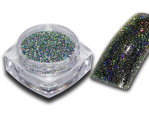 Hologramm Chrom Flakes Effekt Pigment Puder Nail Art Glitzer Glitter Nagel Nails