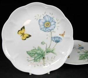 Lenox-BUTTERFLY-MEADOW-2-Accent-Luncheon-Plates-Monarch-LIGHT-USE