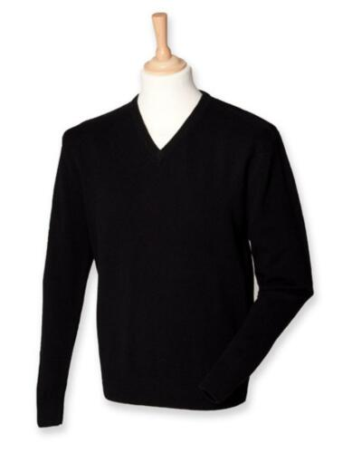 Lambswool V-Neck Jumper 100/% LammwolleHenbury
