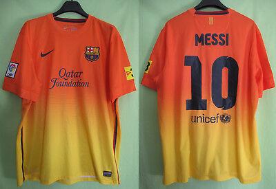 Maillot Barcelone FCB Barcelona Qatar Foundation Nike vintage Messi Jersey XL   eBay